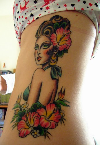 girl tattoo ideas on ribs