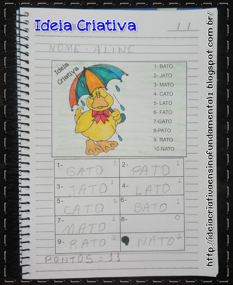 Atividade Alfabetização Palavras Escondidas Jogo envolvendo leitura escrita e contagem