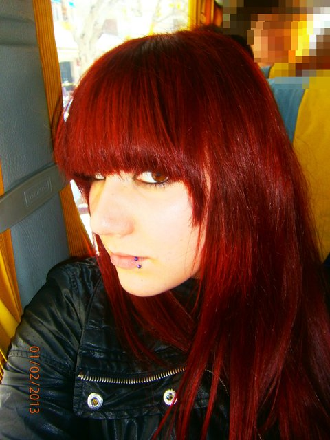 Baño De Color Deliplus Rojo Fuego: de como me quedó y del tinte si tenéis alguna pregunta no dudéis en