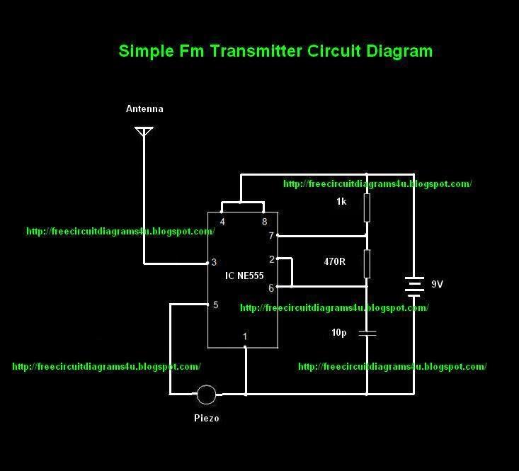 free circuit diagrams 4u simple transmitter circuit diagram rh freecircuitdiagrams4u blogspot com circuit diagram drawing circuit diagram 455 khz crystal oscillator