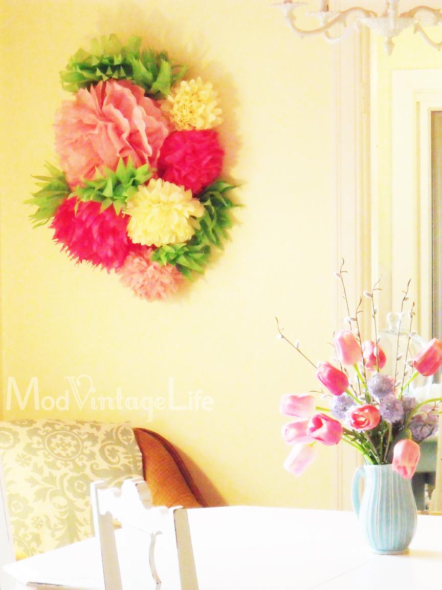 tissue paper flower wall art - Ideal.vistalist.co