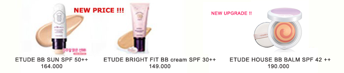 menu etude house BB cream