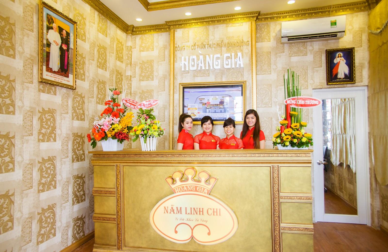 showroom nấm linh chi Hoàng Gia tại số 63 đường 3-2, P.11, Q.10, Tp.HCM