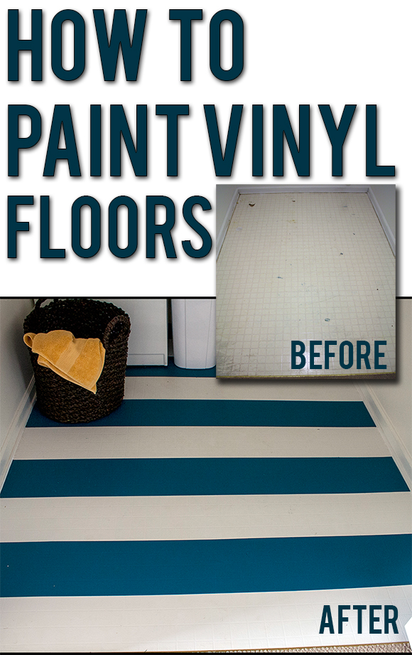 Someday crafts how to paint a vinyl or laminate floor for Can i paint vinyl flooring