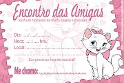 Convite encontro das amigasTema gatinha Mary