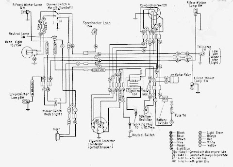 Honda C100 Wiring Diagram