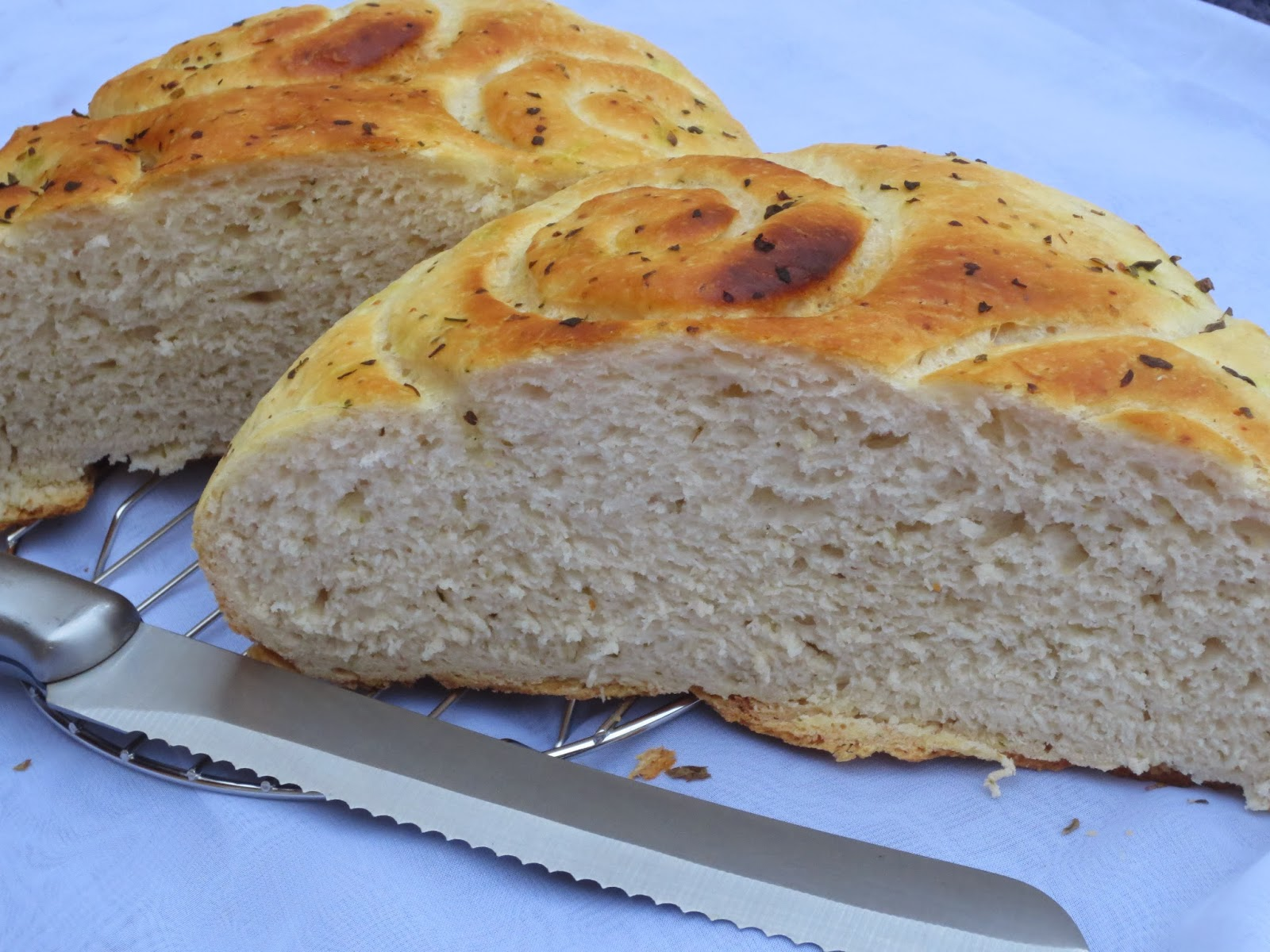 Pan de ajo y orégano Ana Sevilla