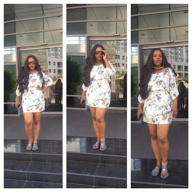 Actress Empress Njamah on Vacation