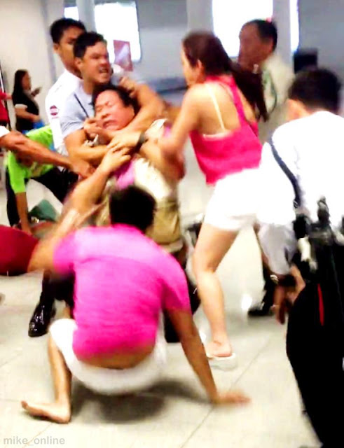 Mon Tulfo Vs Raymart Santiago and Claudine Barretto (NAIA Brawl)