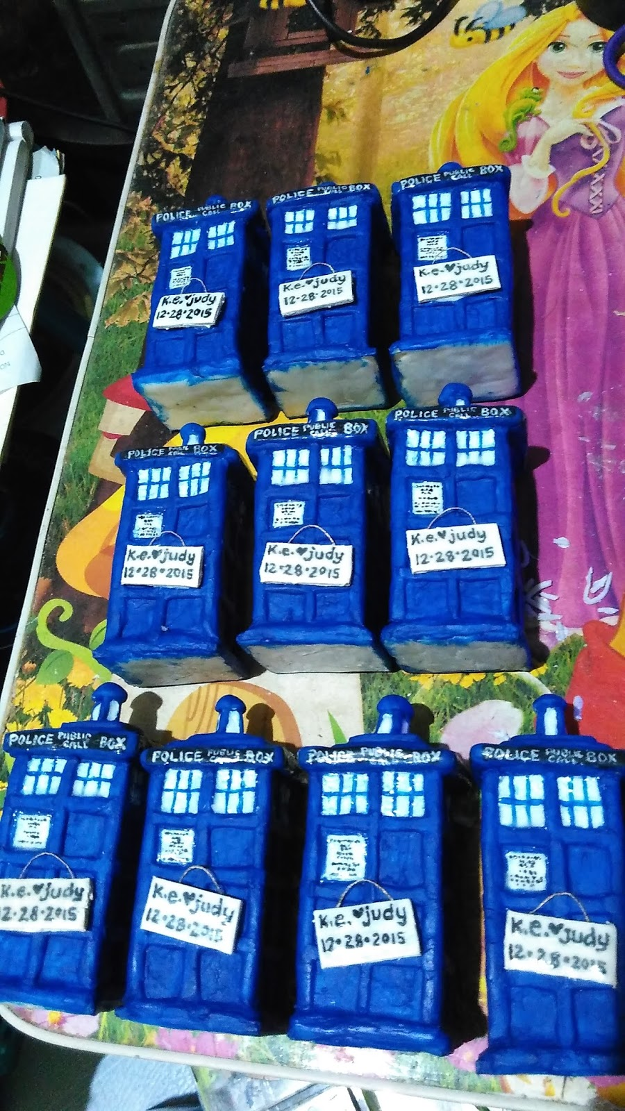 Craft With Cee Doctor Who Inspired Wedding Cake Toppers