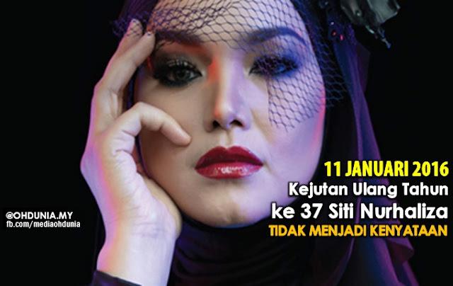 Kejutan ulang tahun ke-37 Siti Nurhaliza, Tidak menjadi kenyataan