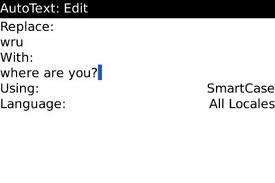 Cara Membuat Simbol Autotext BBM Baru di Blackberry