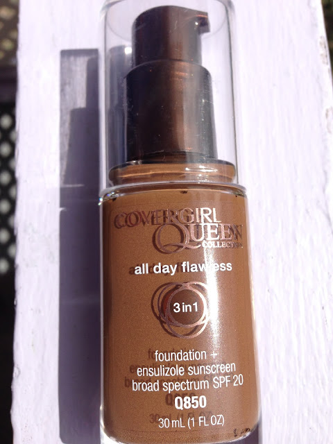 Covergirl Queen Collection All Day Flawless Foundation 'Q850 Sheer Espresso' www.modenmakeup.com