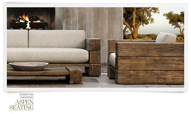 Modern earth design restoration hardware aspen collection for Restoration hardware furniture manufacturer
