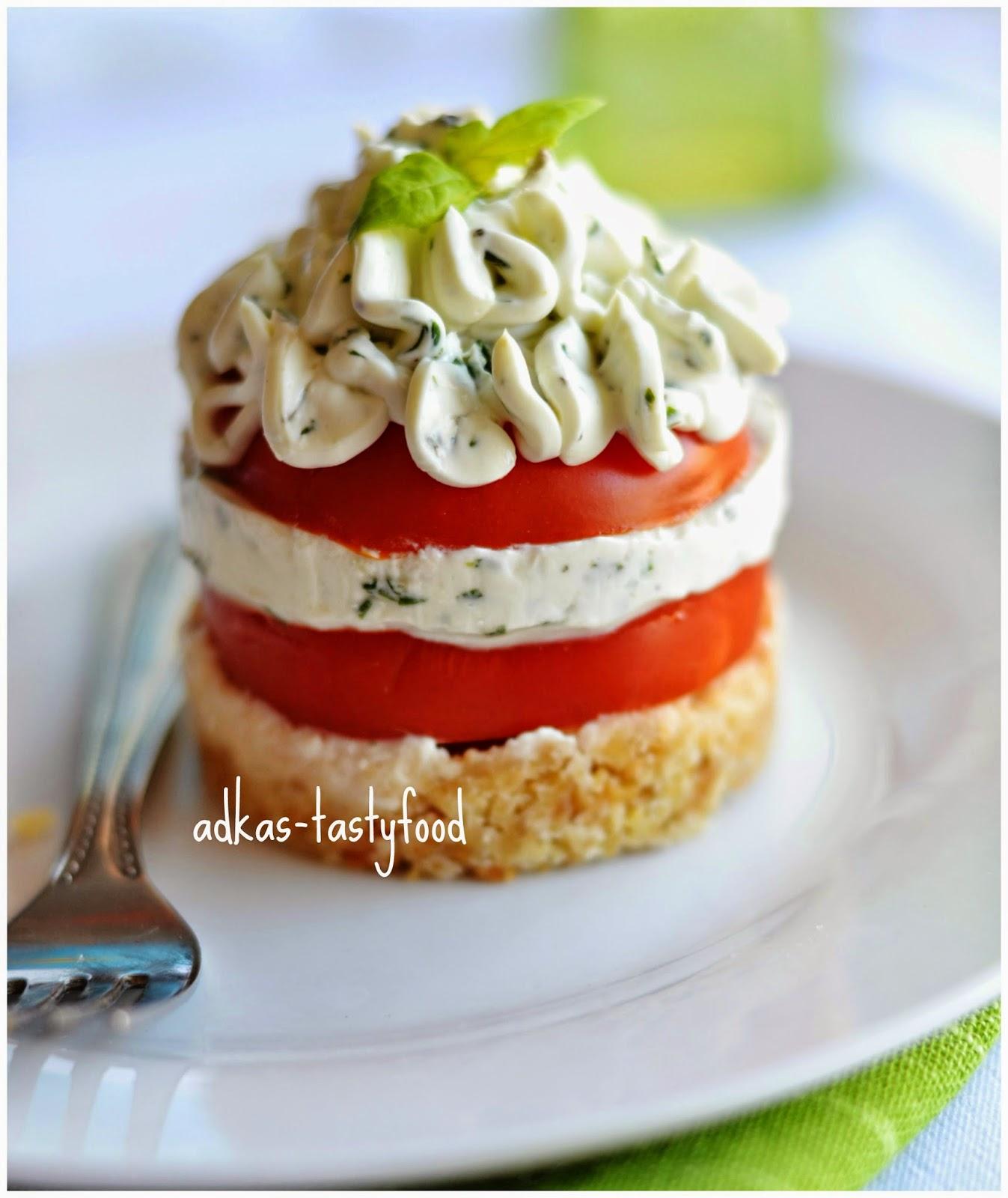 Mini cheesecake a la Caprese