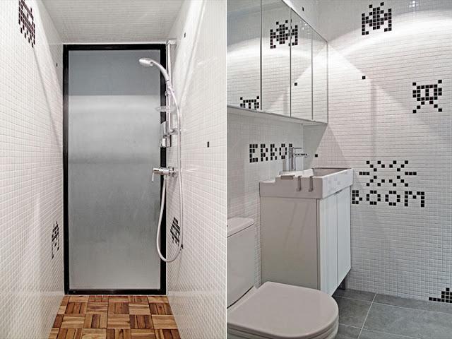 Ванная комната с игровым дизайном