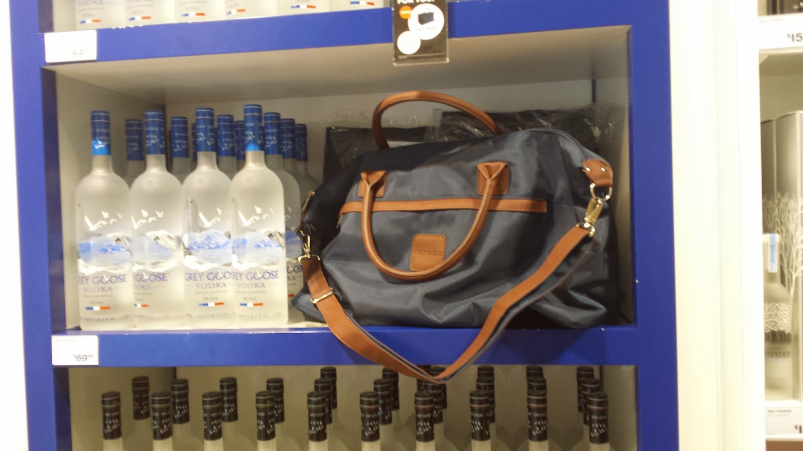 Grey Goose Duffel Bag Gift with Purchase Promotion