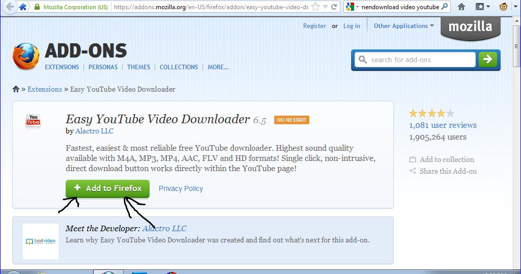 Cara download video YouTube menggunakan Mozilla Firefox ...