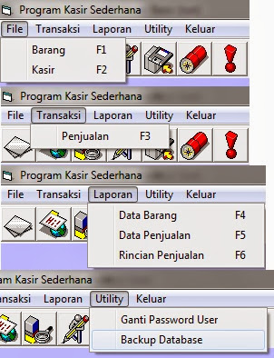 Menu Visual Basic Kasir Sederhana