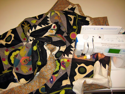 How to position a quilt for free motion quilting