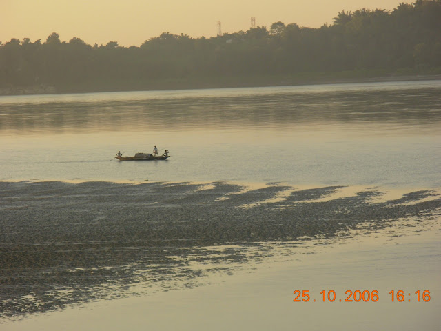 A Boat Going up the Brahmaputra