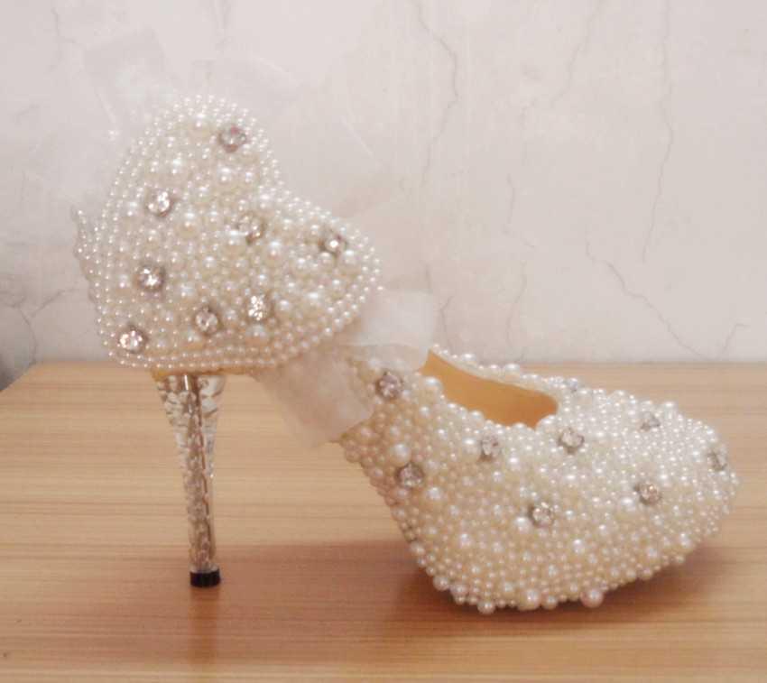 pearl bridal footwear