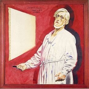 J.F. Willumsen - Selvportræt i malerbluse