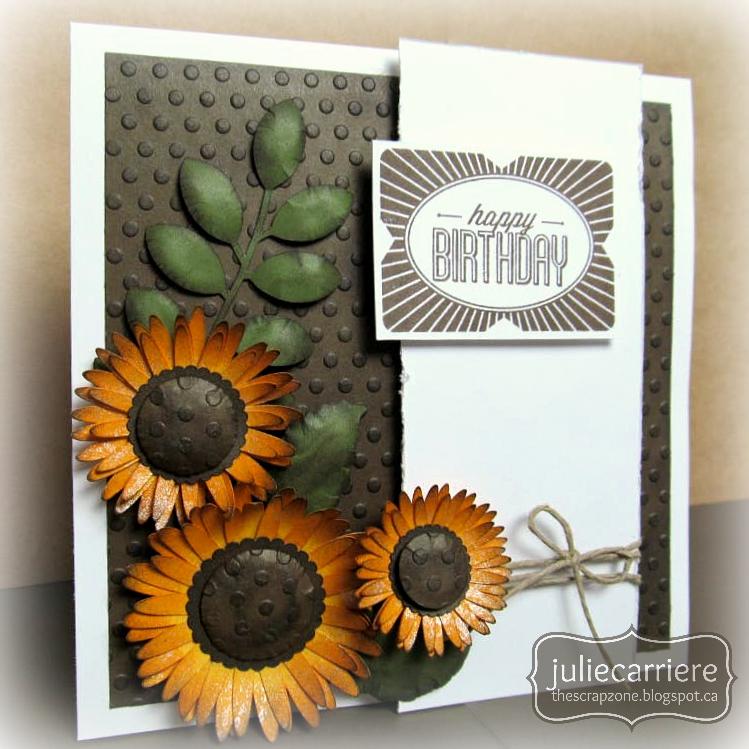 The Scrap Zone Sunflower Cardmaking Workshop