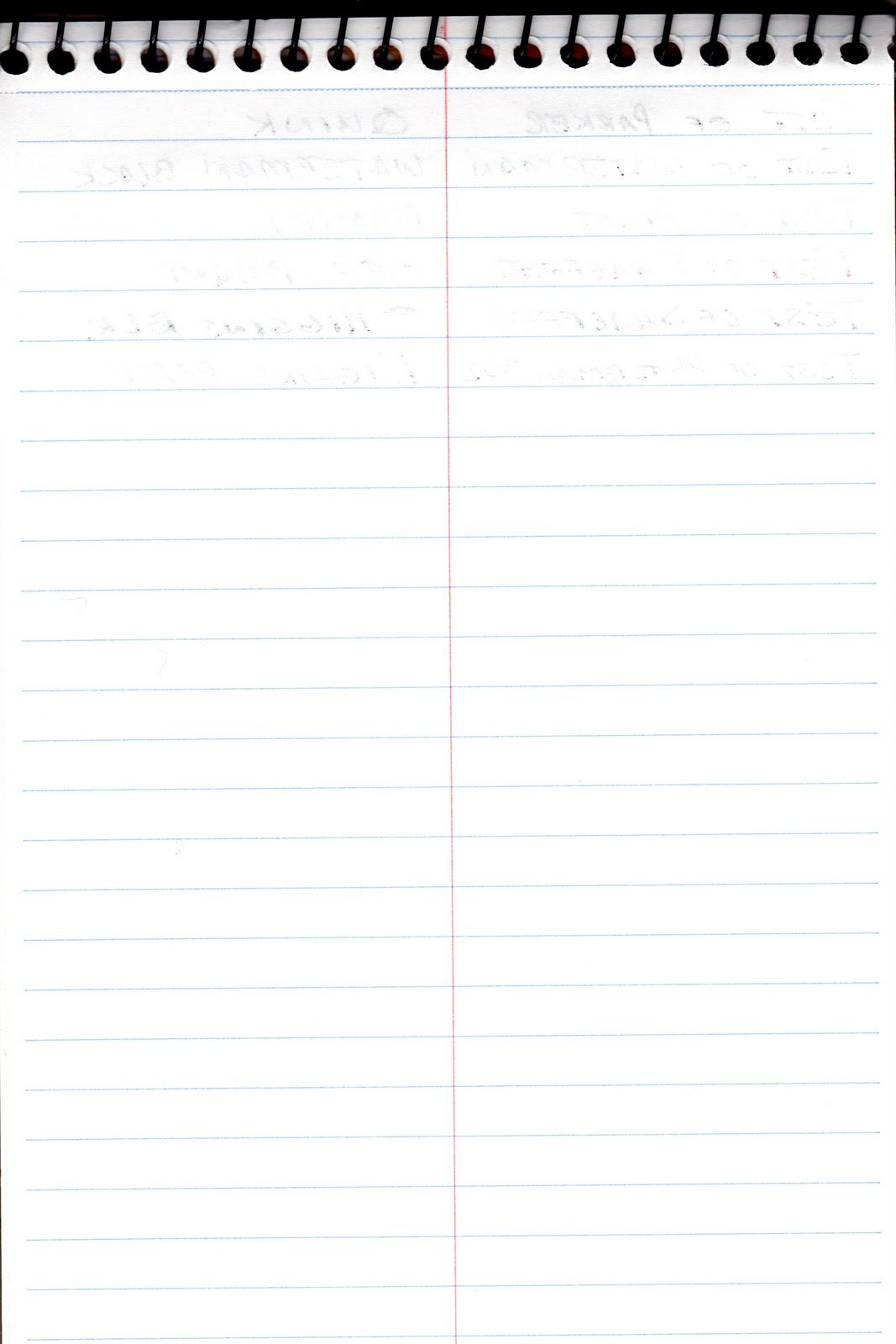 steno paper