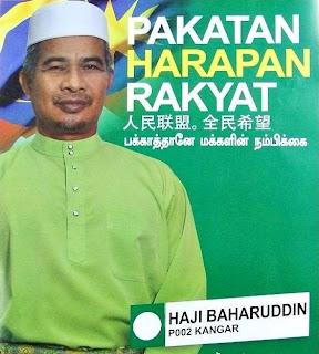 Calon Harapan Rakyat: Baharuddin Bin Ahmad (PAS)