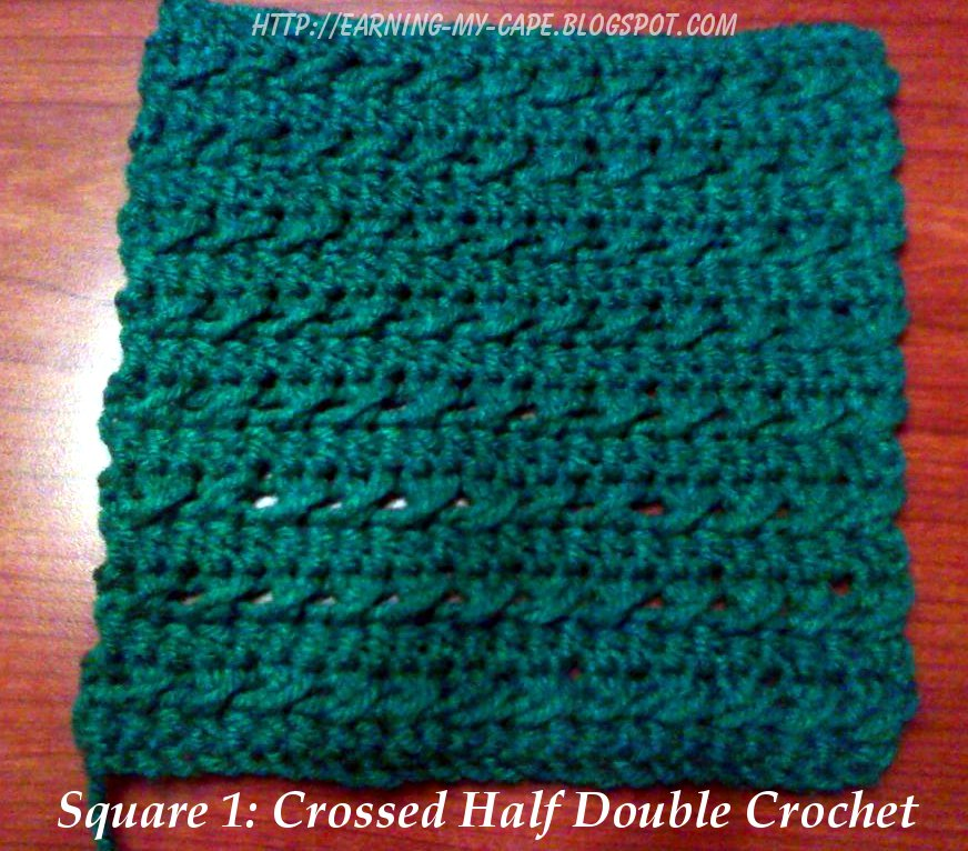 Earning-My-Cape: Weekly Crochet Square: Square 1