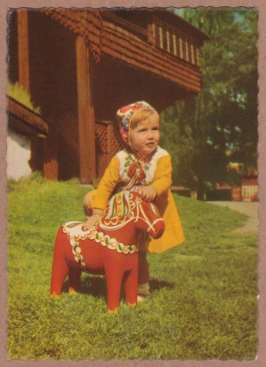 Vintage dala horse postcards