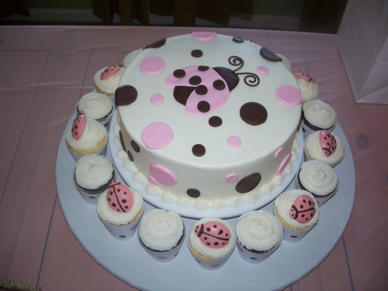 pink ladybug baby shower cake cake central