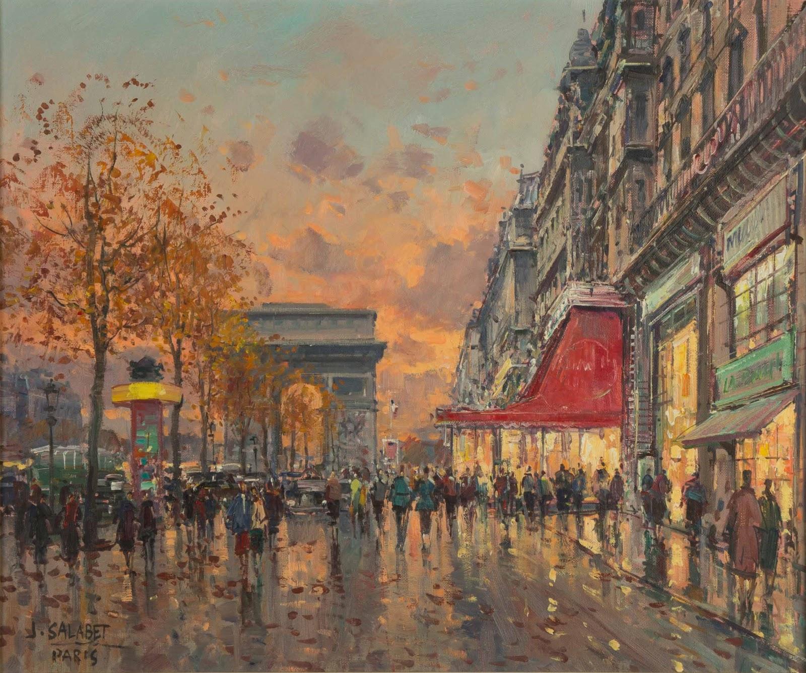 Jean Salabet Paris Paris Street Scene