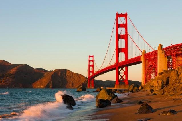 Golden Gate Bridge at sea level (Credit: Shutterstock) Click to enlarge.