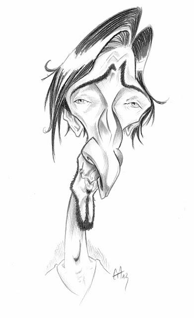 caricature d'Adrien Brody