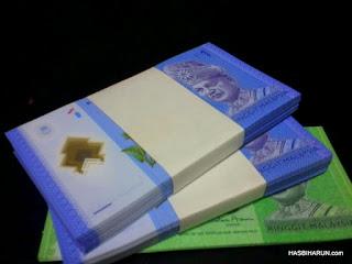 Duit plastik baru Malaysia untuk duit raya drp Hasbi dan Adibah Karimah