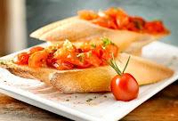 Bruschetta Rossa no Pão Italiano (vegana)