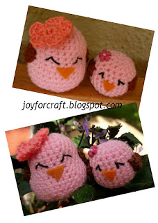 Amigurumi crochet cute Mother's Day gift mommy baby birds pattern idea
