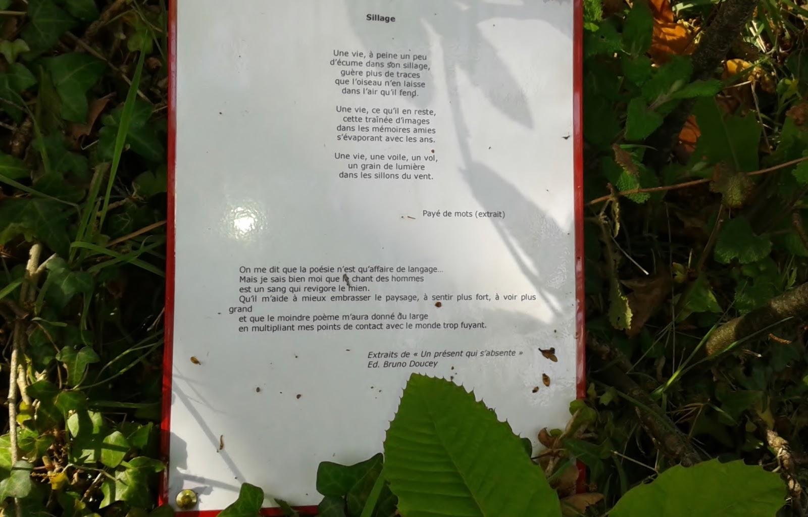 poème Michel Baglin