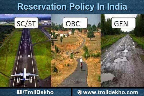 Reservation in India. Image Courtesy: TrollDekho