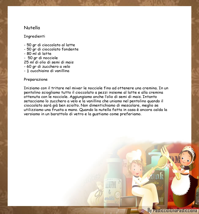 La ricetta della nutella