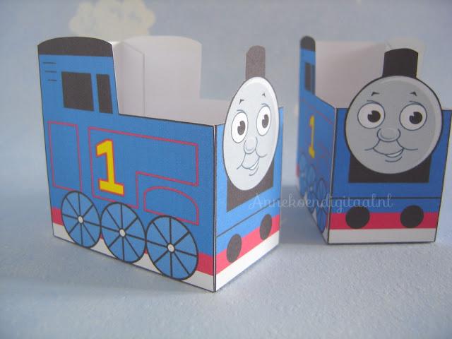 thomas de trein traktatie zelf knutselen, thomas de trein traktatie maken, Thomas de trein traktatie printen, Thomas de trein traktatie doosje