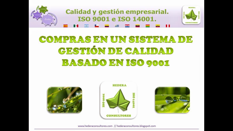 compras en ISO 9001