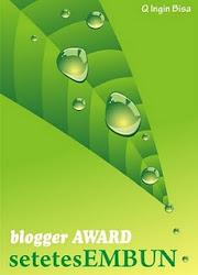 2nd award dari Mr.Hilmi