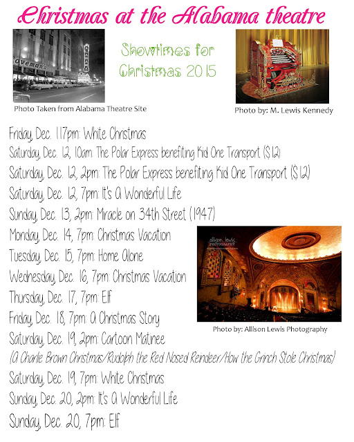 Christmas Showtimes: Alabama Theatre