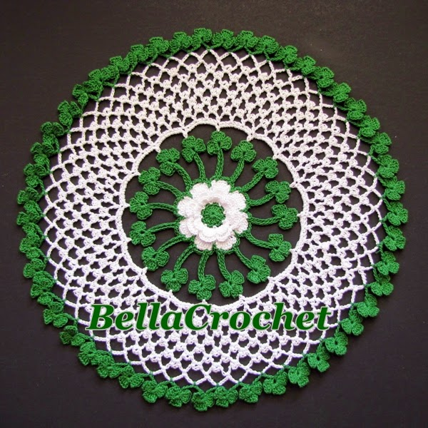 Irish Doilies Crochet Free Patterns : BellaCrochet: Irish Blessings Doily: A Free Crochet ...