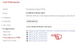 alat webmaster untuk mencari meta deskripsi ganda