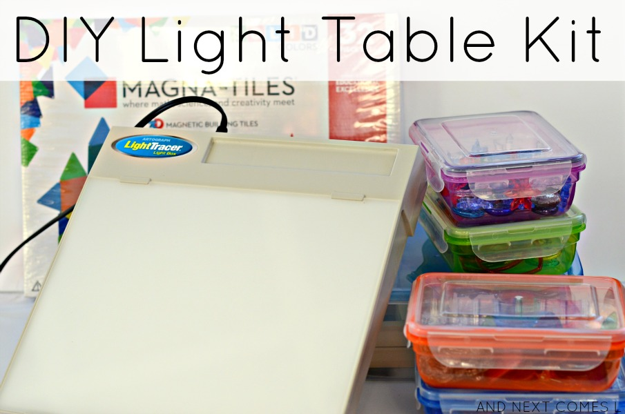DIY light table kit for kids from And Next Comes L