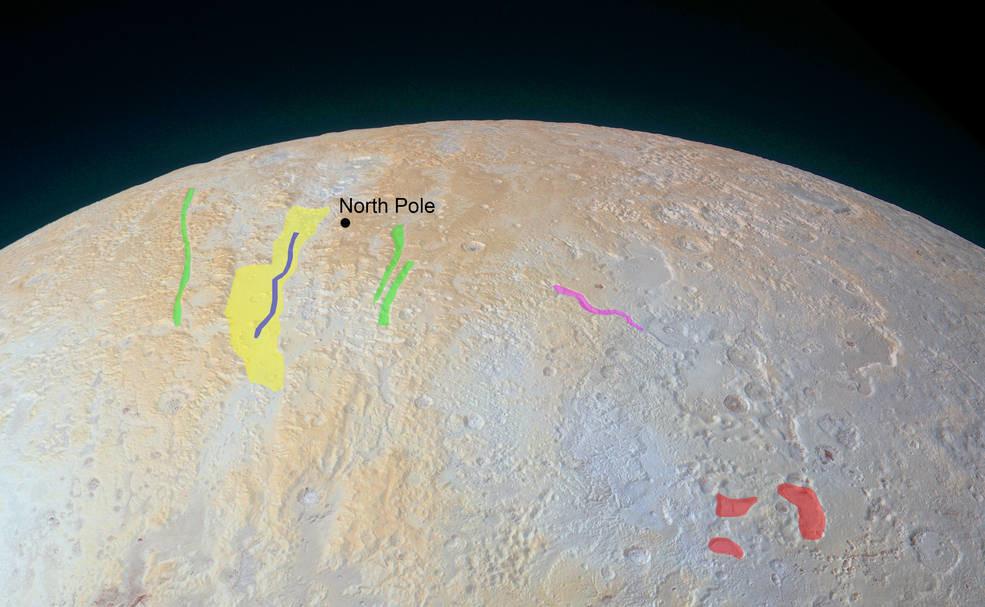 Así son los cañones helados de Plutón